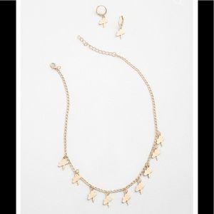 NWT Make It Rain Necklace & Earrings Set